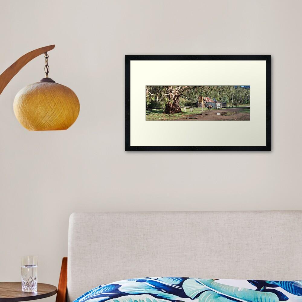 Frys Hut, Howqua Hills, Australia Framed Art Print