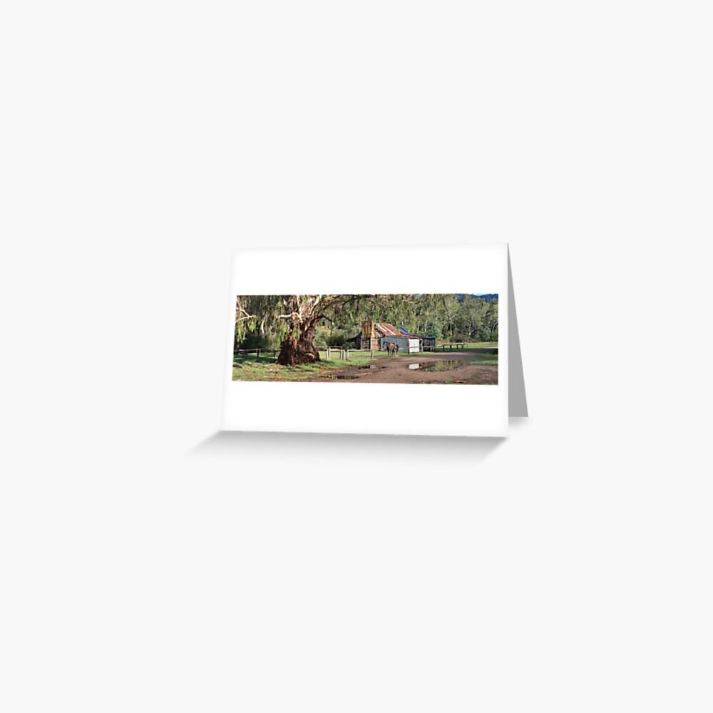 Frys Hut, Howqua Hills, Australia Greeting Card