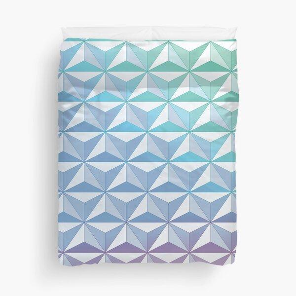 Geodesic Sphere, Blue Duvet Cover
