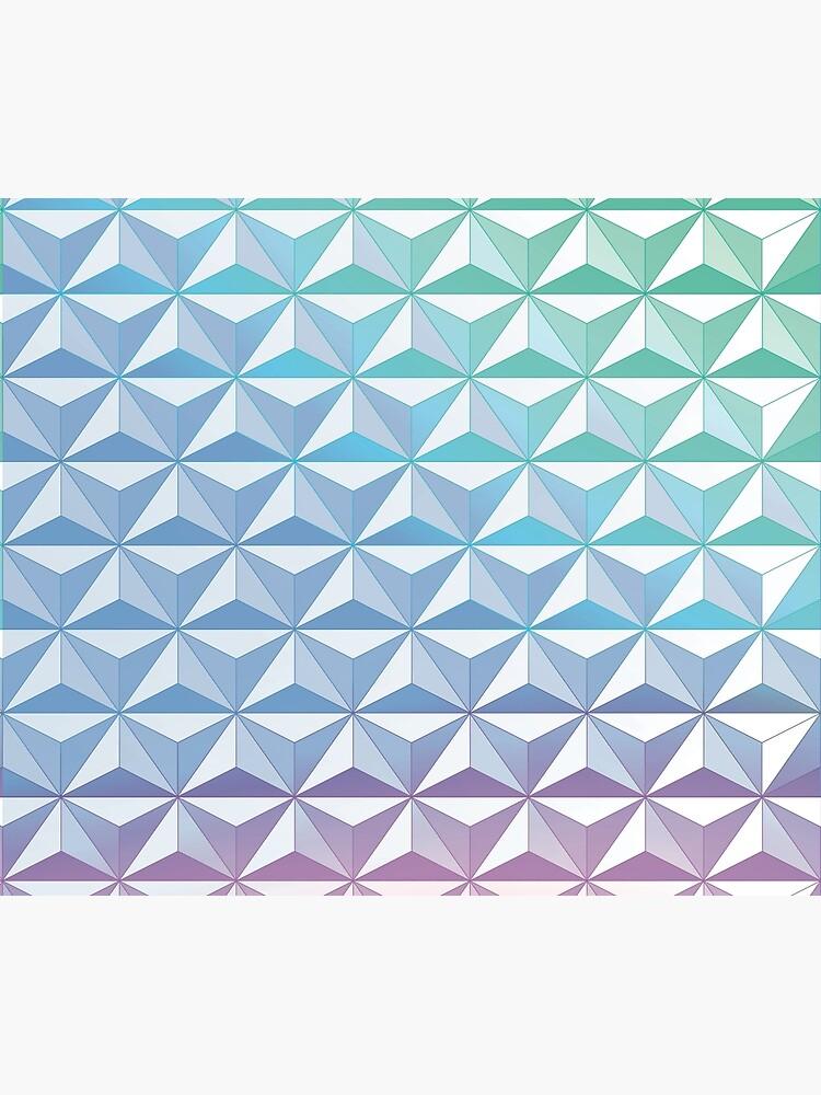 Geodesic Sphere, Blue by jinigo1