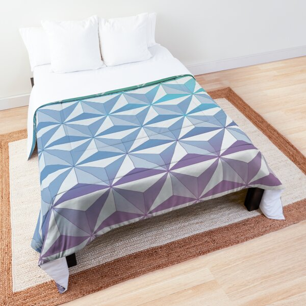 Geodesic Sphere, Blue Comforter