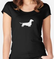 Dachshund Silhouette(s) Women's Fitted Scoop T-Shirt