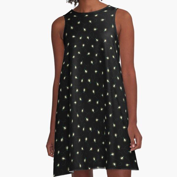 Twinkle Lights - Warm White A-Line Dress