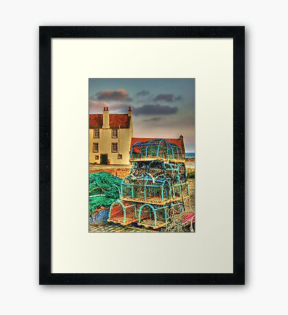 Lobster Creels Framed Print