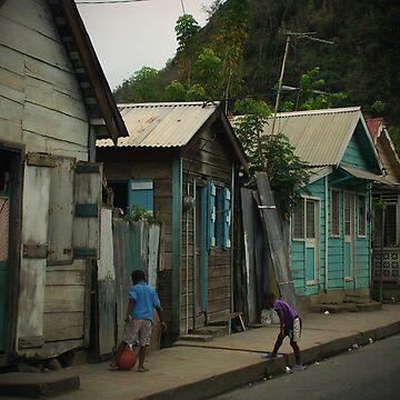 Children in St. Lucia by miodrag