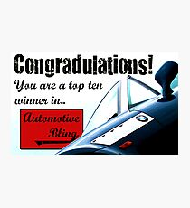 Automotive Bling Banner Photographic Print