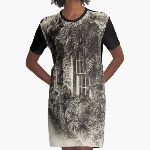 The Wisteria Window Graphic T-Shirt Dress