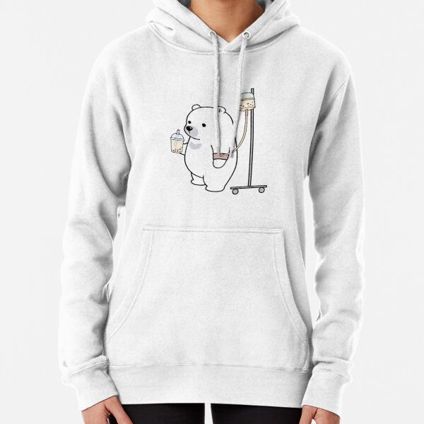 Boba Bear Loves Boba Too Much! Pullover Hoodie