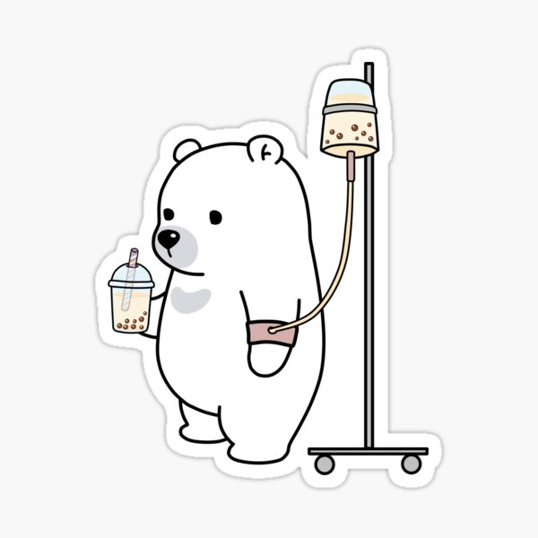 Boba Bear Loves Boba Too Much! Sticker