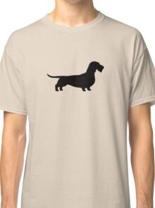 Wire Haired Dachshund Silhouette(s) Classic T-Shirt