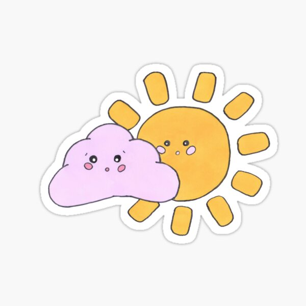 Sunny but cloudy  Sticker