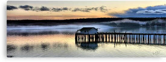 Sunset Pier Five by Rick Lawler