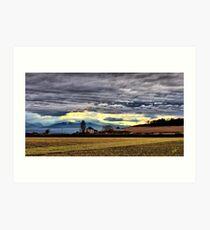 Ebey Prairie Sunset Art Print