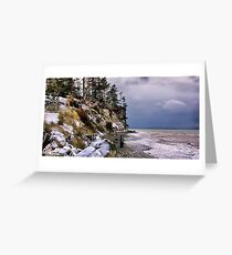 West Beach Snow Greeting Card