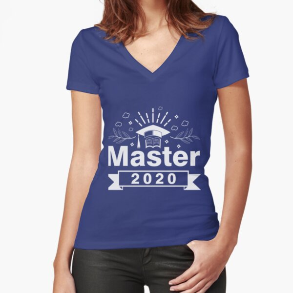 Master Abschluss 2020 - Master studium abschluss Tailliertes T-Shirt mit V-Ausschnitt