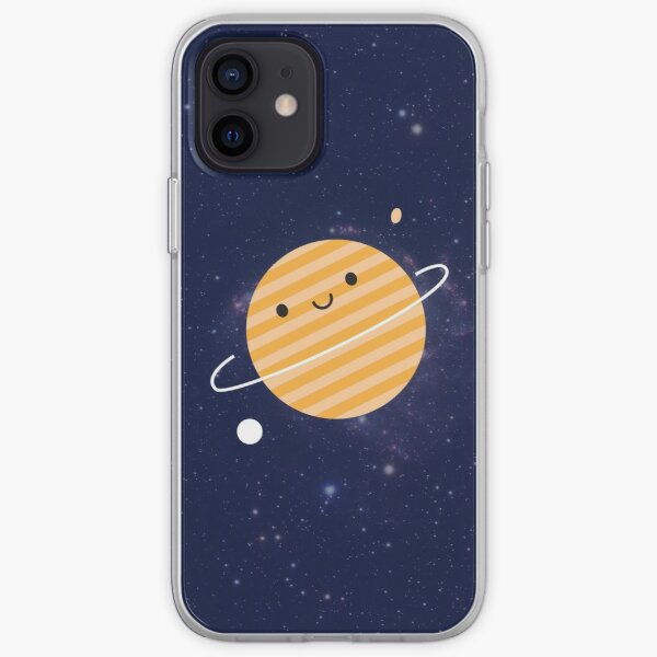 Happy Planet Saturn in Space iPhone Soft Case