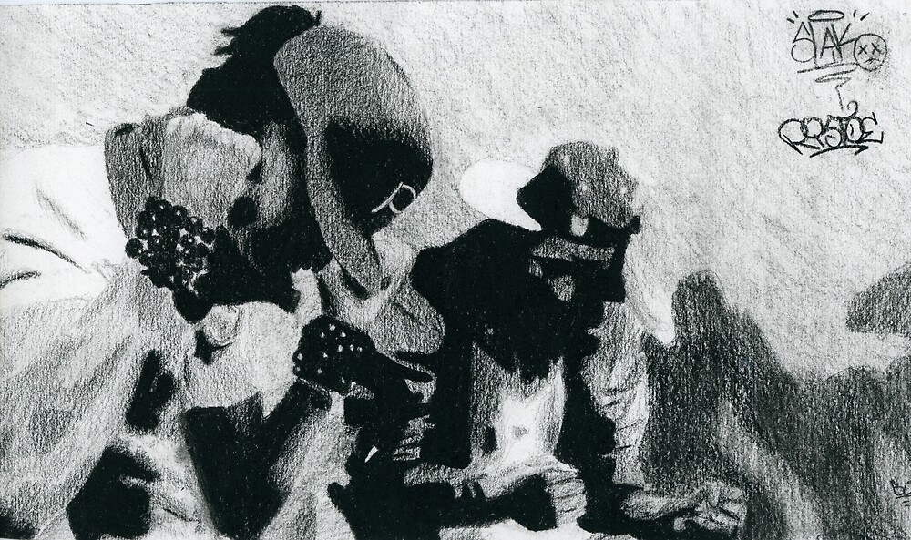 Les Twins Charcoal by Ristoe