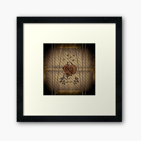Steampunk hearts Framed Art Print