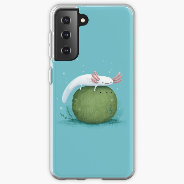 Axolotl on a Mossball Samsung Galaxy Soft Case