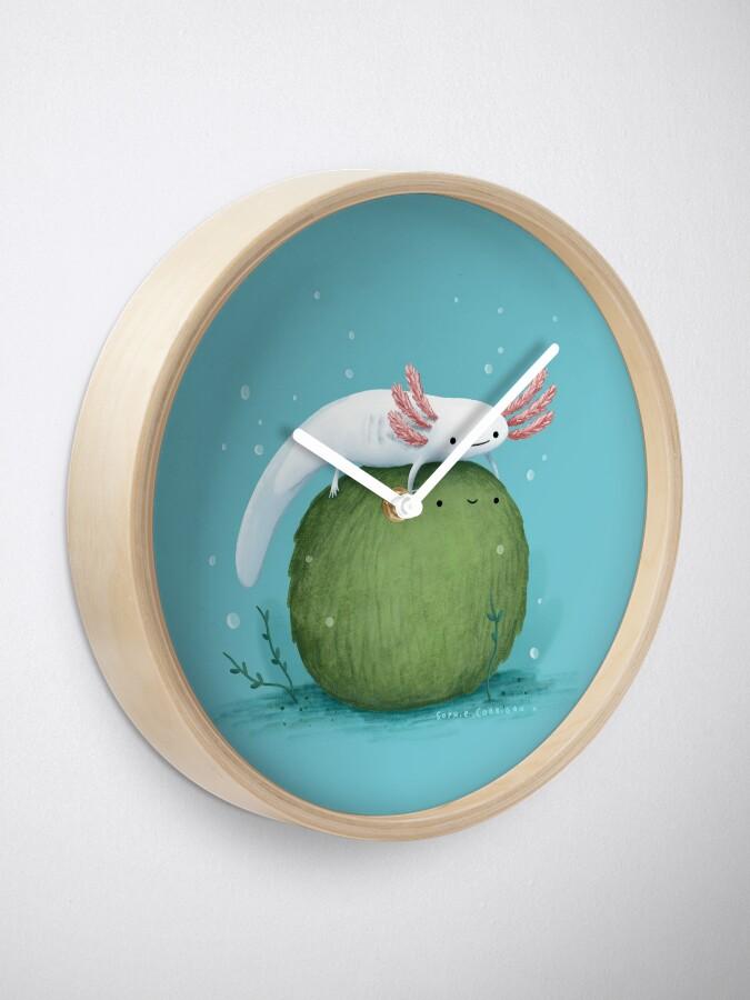 Alternate view of Axolotl on a Mossball Clock