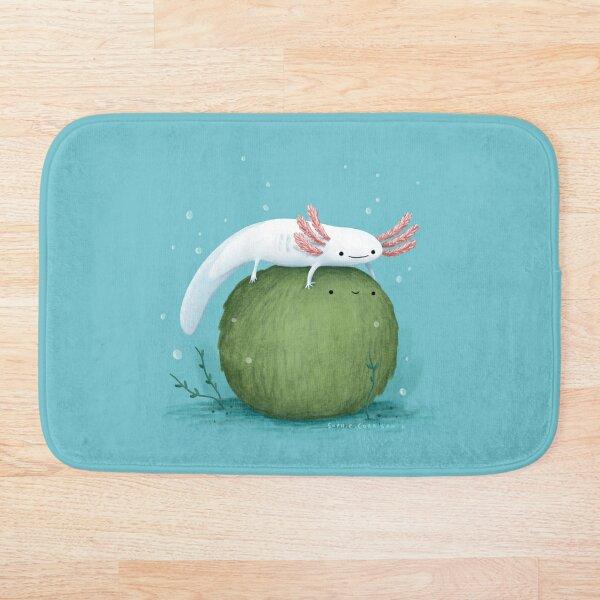 Axolotl on a Mossball Bath Mat