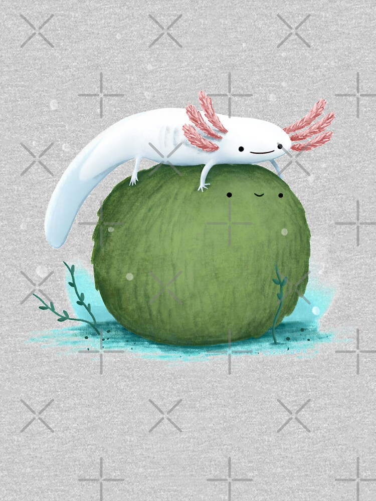 Axolotl on a Mossball by SophieCorrigan