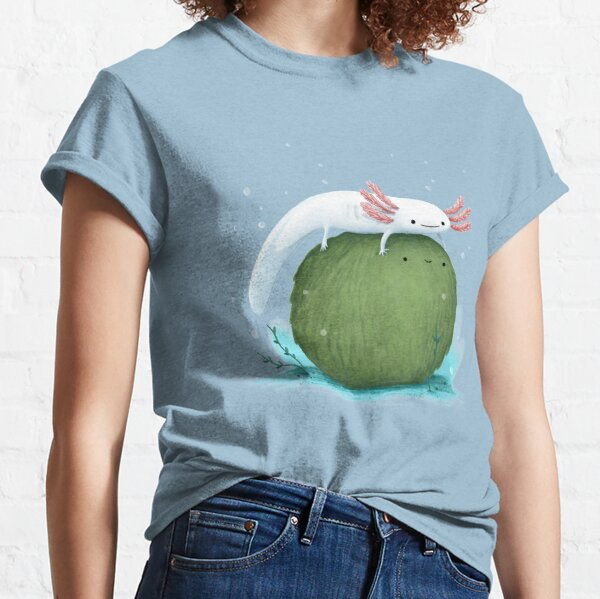 Axolotl on a Mossball Classic T-Shirt