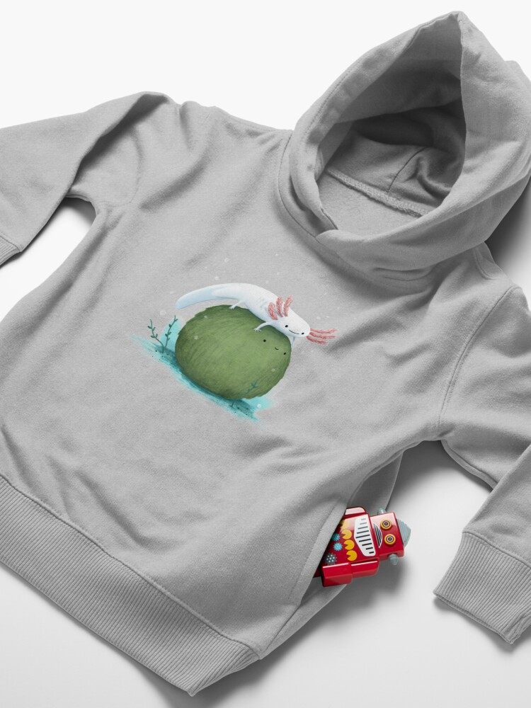 Alternate view of Axolotl on a Mossball Toddler Pullover Hoodie
