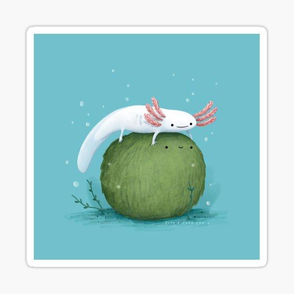 Axolotl on a Mossball Sticker