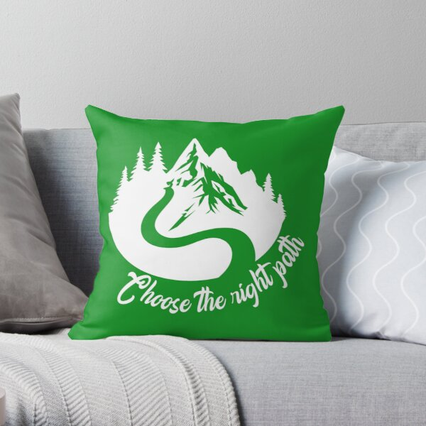 Choose The right path - Mountains Trekking Gift for Camper Throw Pillow