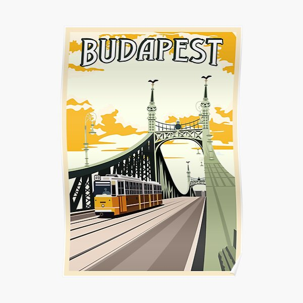 Budapest Vintage Poster