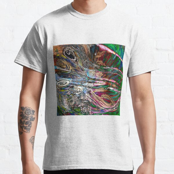fluid energetic flow abstract Classic T-Shirt