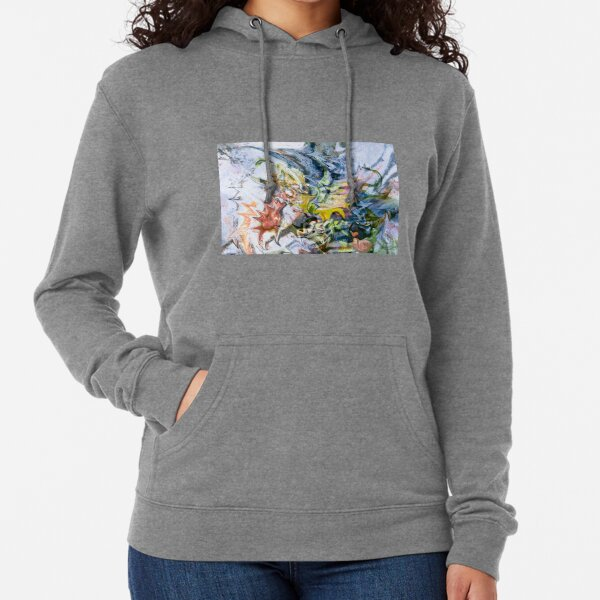 fluid objects art abstraction Lightweight Hoodie