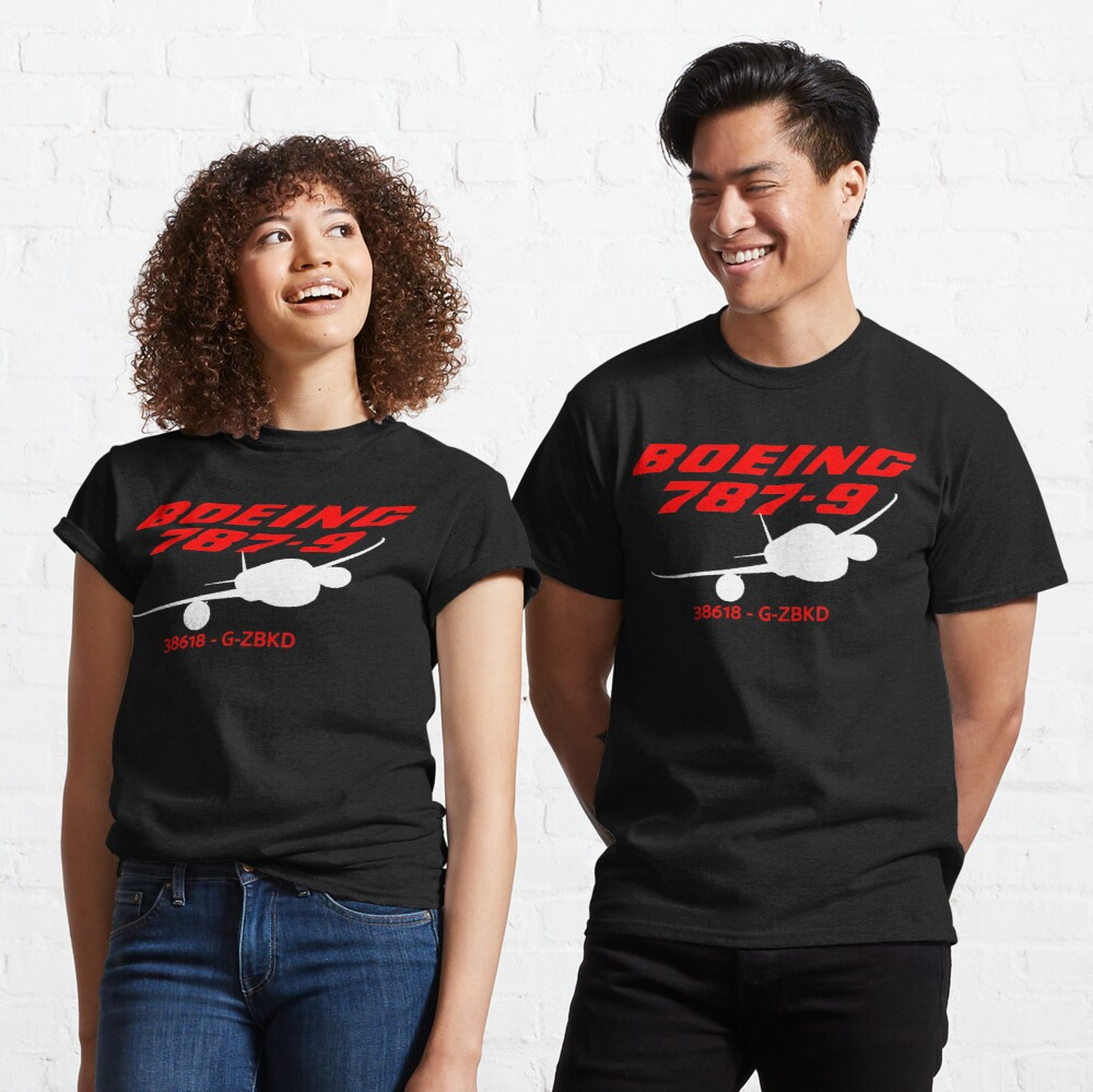 Boeing 787-9 38618 G-ZBKD (White Print) Classic T-Shirt