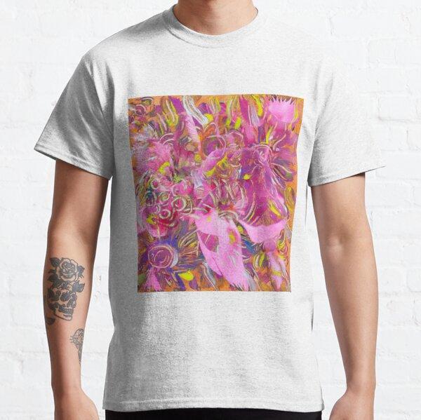 pink orange flower abstract art Classic T-Shirt