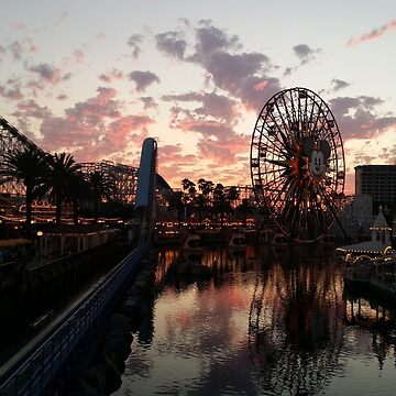 Sunset at Paradise Pier by jay03042011