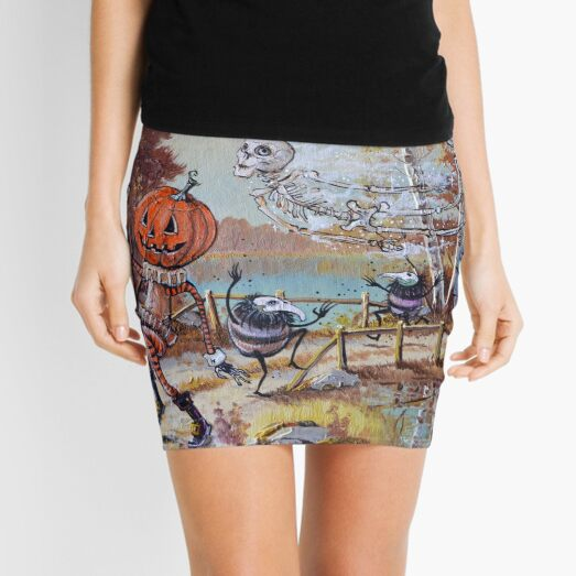 Hallowe'en Comes to Town Mini Skirt