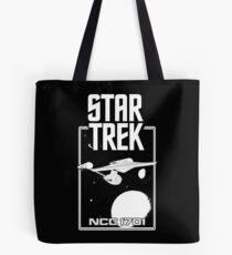 Enterprise NCC 1701 Black and White Tote Bag