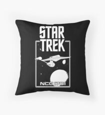 Enterprise NCC 1701 Black and White Floor Pillow