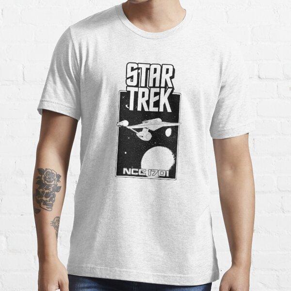 Enterprise NCC 1701 Black and White Essential T-Shirt