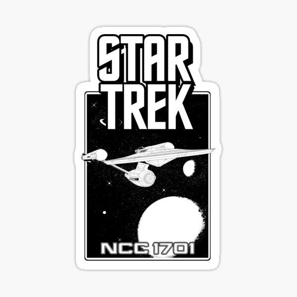 Enterprise NCC 1701 Black and White Sticker