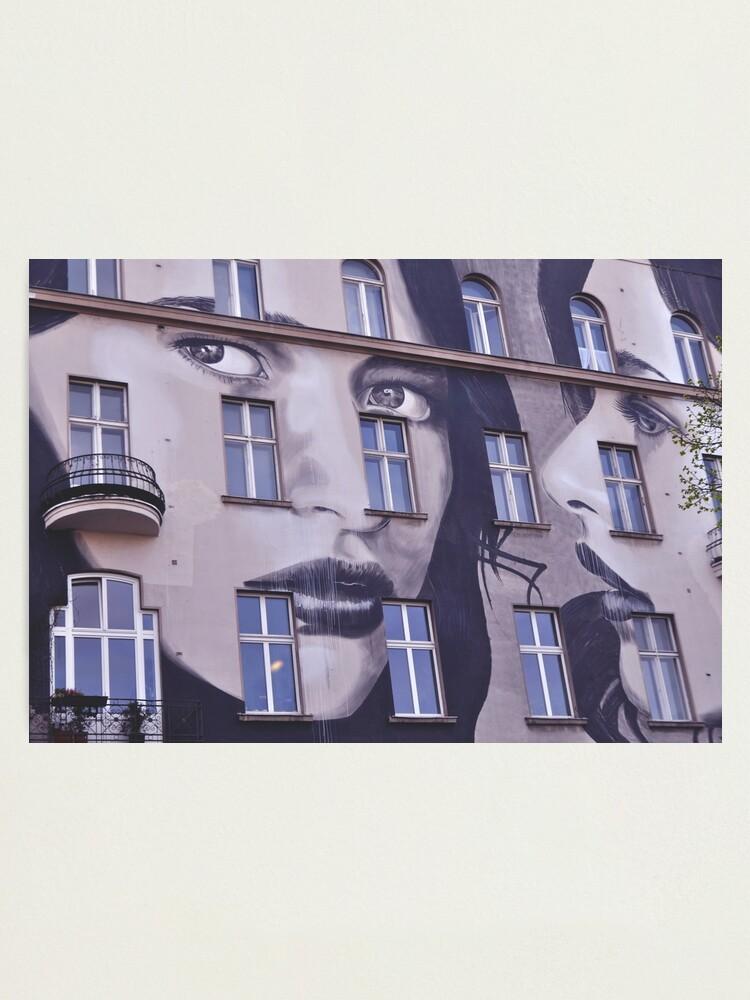 Alternate view of Building Street Art - Bülowstraße, Berlin Photographic Print