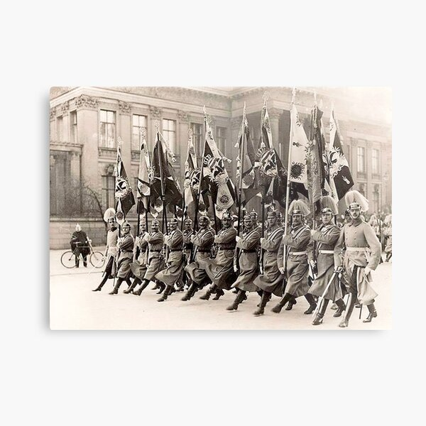 Parade in Berlin..1910..Prussian Regimental flags Metal Print