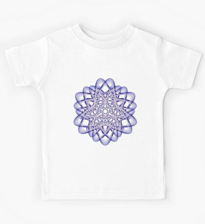 Abstract Dark Blue Violet Atomic Swaps Kids Clothes