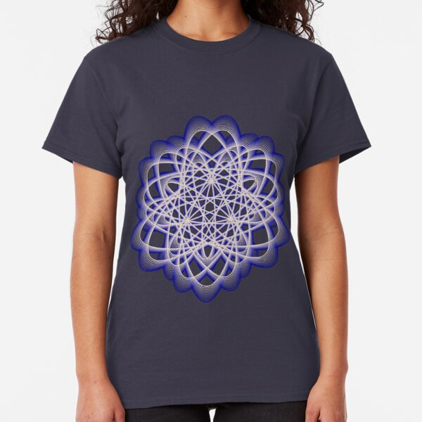 Abstract Dark Blue Violet Atomic Swaps Classic T-Shirt