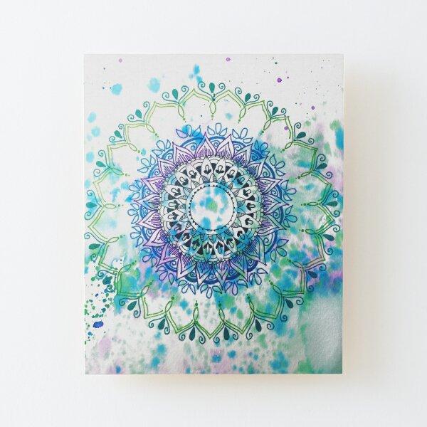 Mandala Splash Wood Mounted Print