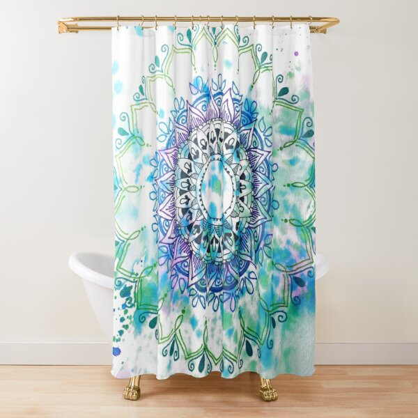 Mandala Splash Shower Curtain