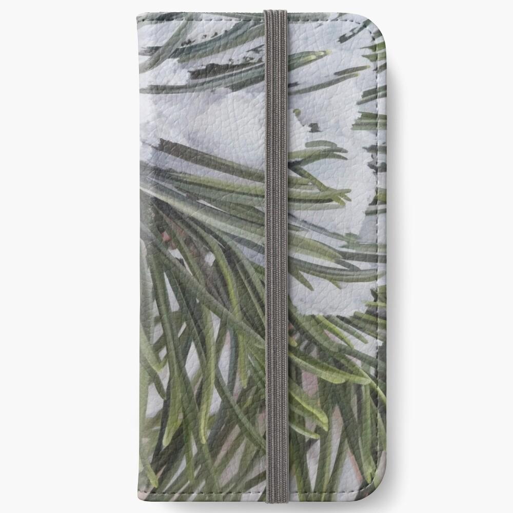 Winter Pine iPhone Wallet