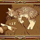 Portrait of a Sleeping Kitten by Norman Perelson