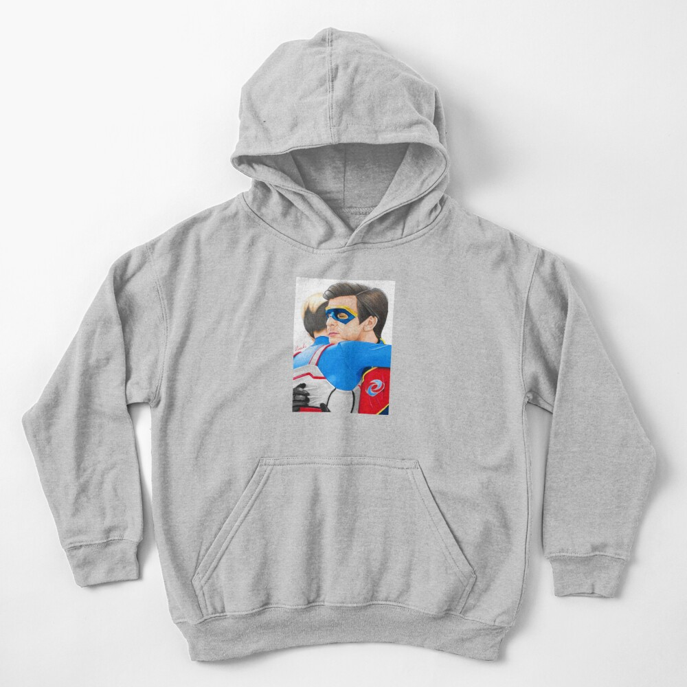 Captain Man and Kid Danger - Hug Traditional Kids Pullover Hoodie